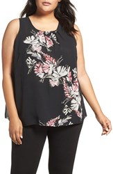 Vince Camuto Plus Size Women's Floral Print Shell