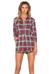 Evil Twin Big Wednesday Romper Red