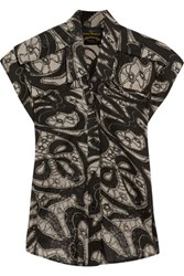 Vivienne Westwood Anglomania Cargo Printed Cotton Shirt Taupe