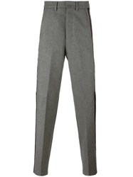 Ami Alexandre Mattiussi Side Stripe Tailored Trousers Grey