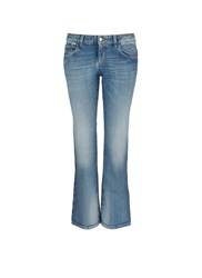 Gucci Whiskered Cropped Flare Jeans Blue