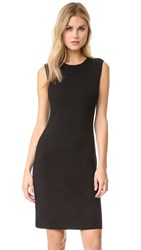 Vince Plaited Rib Shift Dress Black Black