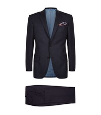 Richard James Wool Alpaca Flecked Suit Male Navy