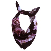 Kathkath Studio Vintage Rose Silk Neck Scarf Pink Purple