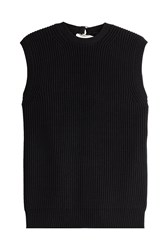 Alexander Wang Knit Top With Open Back Black