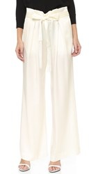 L'agence Paper Bag Trousers Ivory Ivory