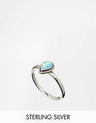 Regal Rose Blue Opal Sterling Silver Teardrop Ring Blueopal