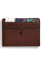 Andrew Marc New York 'Bowery' Card Case Cognac