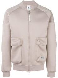Adidas Originals Safari Pockets Bomber Jacket Nude Neutrals