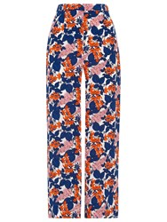 Whistles Damson Print Crop Trousers Multicolour