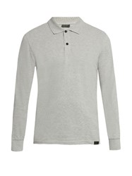 Belstaff Phillips Long Sleeved Polo Shirt Grey