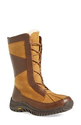 Uggr Women's Ugg 'Mixon' Waterproof Snow Boot Chestnut Leather