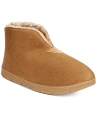 Club Room Men's Faux Suede Bootie Slippers Only At Macy's Tan