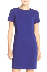 Women's Tahari Drop Waist Stretch Shift Dress Cobalt