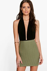 Amelle Ribbed Bodycon Mini Skirt