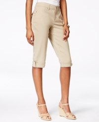 Styleandco. Style And Co. Cuffed Skimmer Jeans French Birch