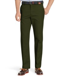 Izod American Straight Fit Flat Front Wrinkle Free Chino Pants Olive