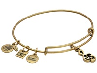 Alex And Ani Sweet Melody Charm Bangle Rafaelian Gold Finish Bracelet