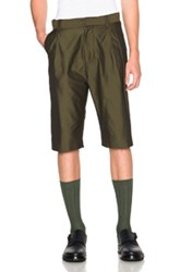 Robert Geller Mortiz Shorts In Green