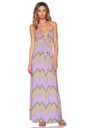 T Bags Losangeles Braided Halter Maxi Dress Purple