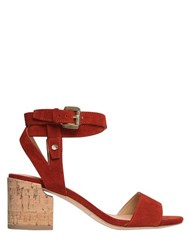 Sigerson Morrison 60Mm Wrap Around Suede Sandals