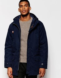 United Colors Of Benetton Parka With Quilted Lining Navy06u