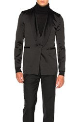 Ann Demeulemeester Shawl Collar Evening Jacket In Black