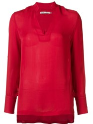 Alice Olivia Relaxed Fit Blouse Red