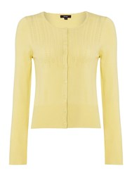 Therapy Pointelle Detail Cardigan Yellow