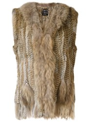 Dolce Cabo Fur Waistcoat Brown