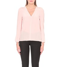 Claudie Pierlot Bertille Silk Top Rose