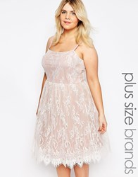 Junarose Lace Overlay Strappy Dress Pink