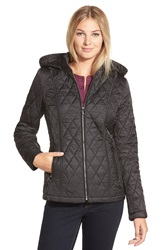 Laundry By Design Quilted Jacket With Detachable Hood Black