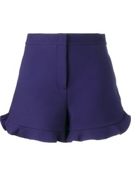 Fendi Ruffle Trim Shorts Pink And Purple