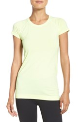Zella Women's 'Level Up' Seamless Tee Yellow Chill Heather