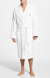 Men's Polo Ralph Lauren Velour Kimono Robe White