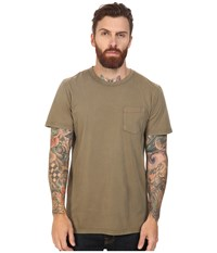 Roark Well Worn Laundered Pocket Tee Army Men's T Shirt Green