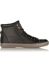 Rebecca Minkoff Seta Studded Leather Sneakers Black