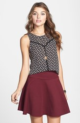 Junior Women's Lily White Textured Skater Skirt Online Only
