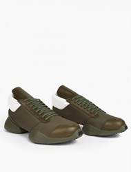 Adidas By Rick Owens Olive Split Sole Running Sneakers