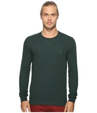 Original Penguin Long Sleeve Reversible Tee Darkest Spruce Men's T Shirt Green