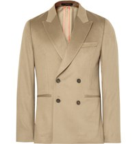 Paul Smith Beige Soho Slim Fit Double Breasted Cashmere Blazer Neutrals