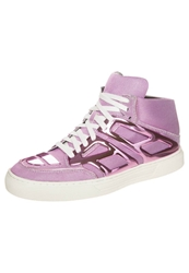 Alejandro Ingelmo Tron Hightop Trainers Metallic Nylon Pink Purple