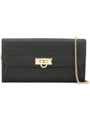 Salvatore Ferragamo Gancio Clutch Black