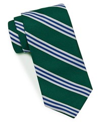 Brooks Brothers Horizontal Striped Tie Green