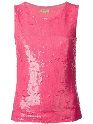 P.A.R.O.S.H. Sequin Embellished Top Pink And Purple