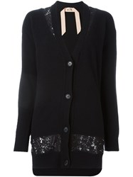 N 21 No21 Lace Detail Cardigan Black