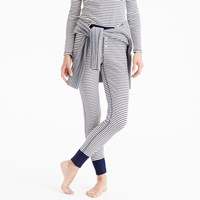 J.Crew Waffle Navy Striped Leggings