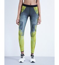 Ultracor Ultra Silk Fractal Print Leggings Chartreuse