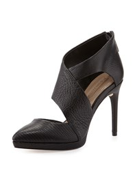 Bcbgmaxazria Davis Leather Cutout Bootie Black